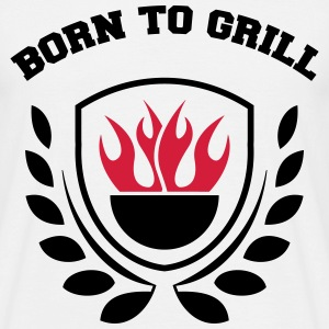 born to grill wappen T-Shirts - Men's T-Shirt