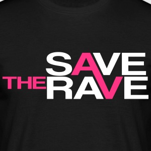 save the rave T-shirts - Herre-T-shirt