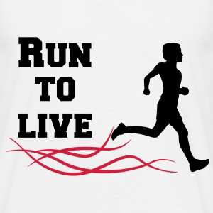 run to live T-Shirts - Männer T-Shirt