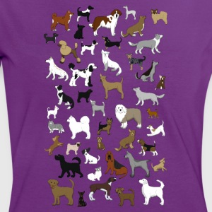 many dogs pixel Camisetas - Camiseta contraste mujer