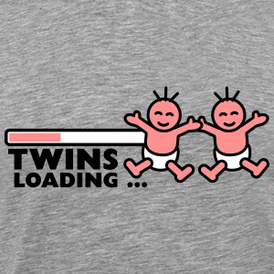Twins Loading T-shirts - Herre premium T-shirt