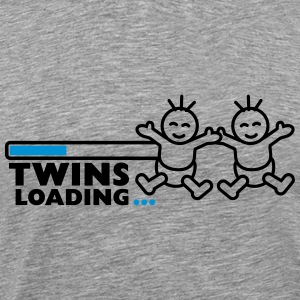 Twins Loading T-shirts - Mannen Premium T-shirt