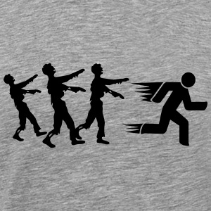 Run From Zombies T-shirts - Premium-T-shirt herr
