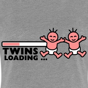 Twins Loading T-shirts - Vrouwen Premium T-shirt