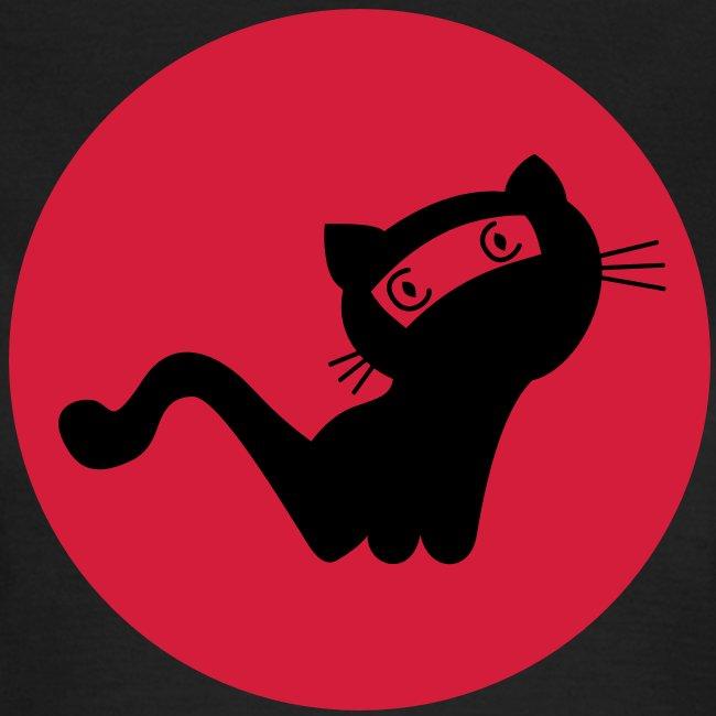 Die schwarze Ninja-Katz