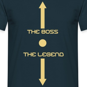 the boss and the legend - Men's T-Shirt
