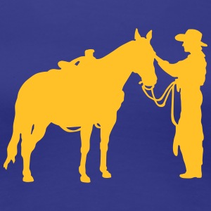 Woman with horse T-shirts - Dame premium T-shirt