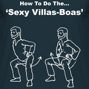 Mens Navy - How To Do The Sexy Villas-Boas - Men's T-Shirt