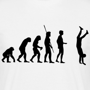 Evolution håndstand  T-shirts - Herre-T-shirt