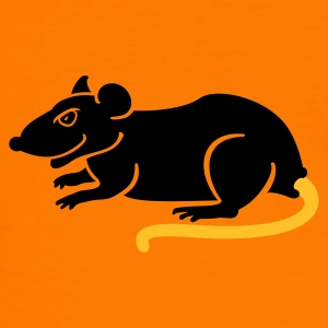 Orange/black Ratte / rat (2c) Men's Tees - Men's Ringer Shirt