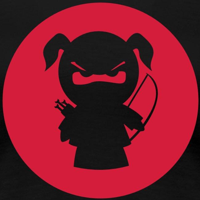 Ninjamädel mit Pfeil und Bogen
