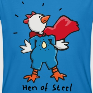 Hen of Steel - Superchicken Tee shirts - T-shirt bio Homme