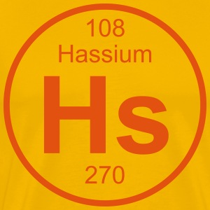 Element 108 - hs (hassium) - Full (round) T-skjorter - Premium T-skjorte for menn