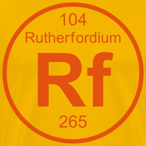 Rutherfordium (Rf) (element 104) - Men's Premium T-Shirt