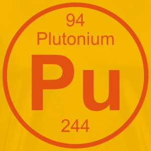 Element 94 - pu (plutonium) - Full (round) T-shirts - Herre premium T-shirt