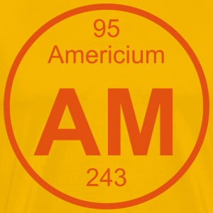 Element 095 - am (0000americium) - Full (round) T-Shirts - Men's Premium T-Shirt