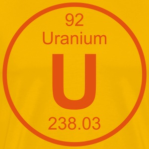Element 92 - u (uranium) - Full (round) T-shirts - Mannen Premium T-shirt