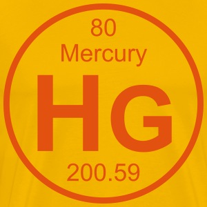 Mercury (Hg) (element 80) - Men's Premium T-Shirt