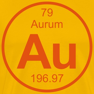 Aurum (Au) (element 79) - Men's Premium T-Shirt