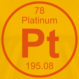 Platinum (Pt) (element 78) - Men's Premium T-Shirt