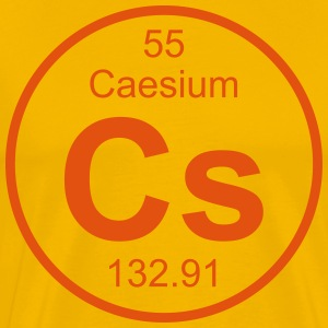 Element 55 - cs (caesium) - Full (round) T-shirts - Mannen Premium T-shirt