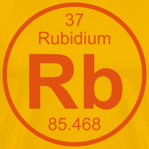 Element 37 - rb (rubidium) - Full (round) T-shirts - Herre premium T-shirt