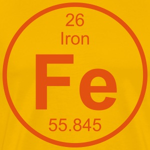 Iron (Fe) (element 26) - Men's Premium T-Shirt