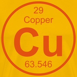 Copper (Cu) (element 29) - Men's Premium T-Shirt