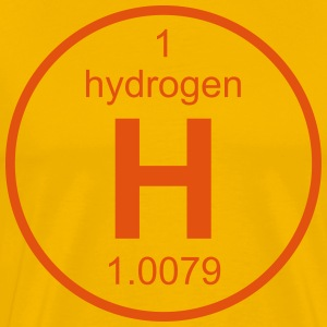 Element 1 - h (hydrogen) - Full (round) T-skjorter - Premium T-skjorte for menn
