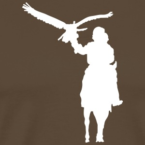 Hunter with golden eagles T-shirts - Herre premium T-shirt
