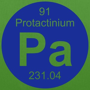 Protactinium (Pa) (element 91) - EarthPositive Tote Bag