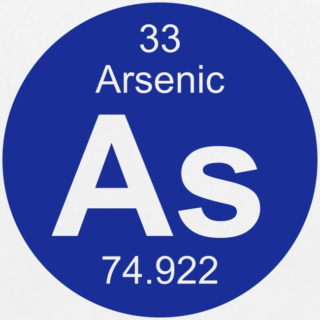 Periodic Table Words Arsenic As Element 33 Full Round Invert