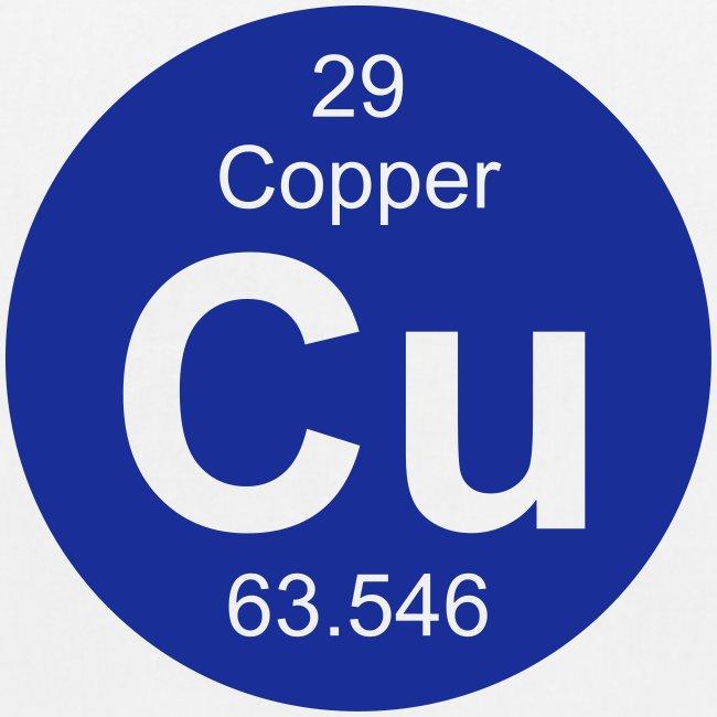 Periodic Table Words Copper Cu Element 29 Full Round Invert