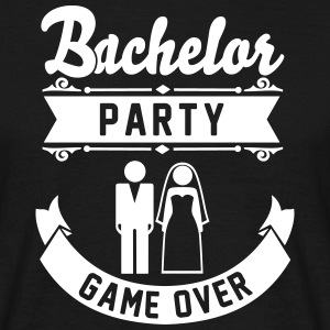 Bachelor Party Game Over T-Shirts - Men's T-Shirt