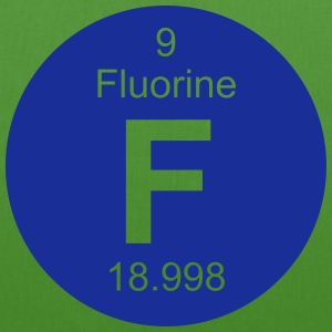 Fluorine (F) (element 9) - EarthPositive Tote Bag