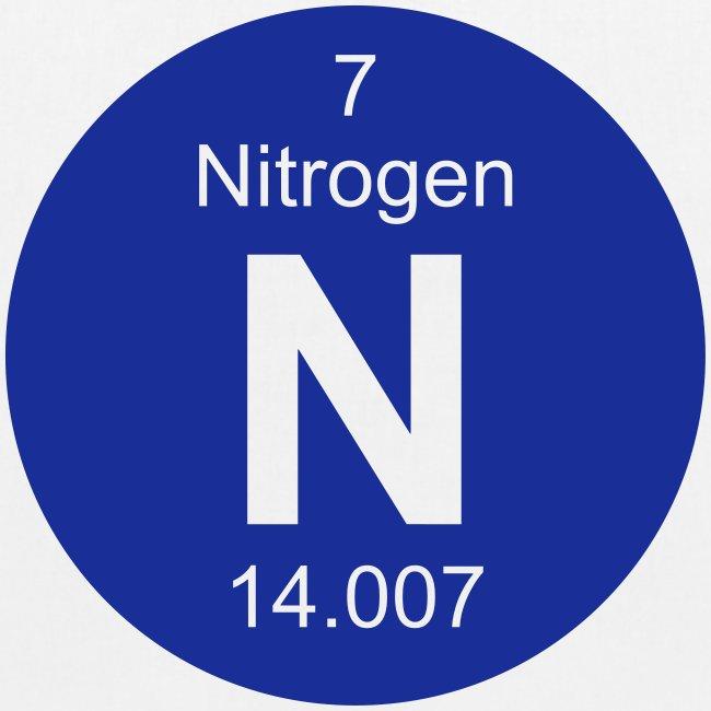Periodic Table Words Nitrogen N Element 7 Full Round Invert