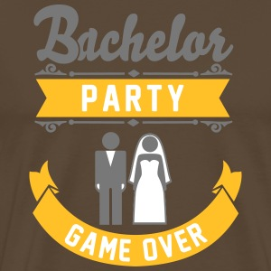 Bachelor Party Game Over T-shirts - Mannen Premium T-shirt