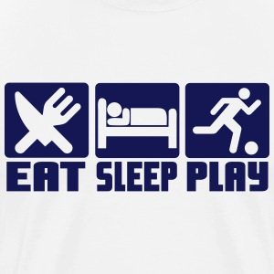 Eat, Sleep, Play Football T-Shirts - Men's Premium T-Shirt