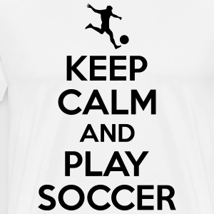 Keep cam and play soccer T-shirts - Herre premium T-shirt