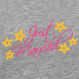 Just Married T-shirts - Premium-T-shirt herr