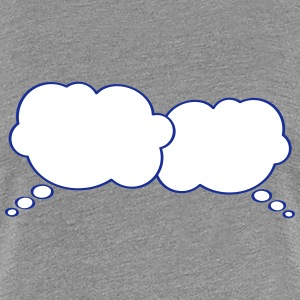 Thought Bubbles T-shirts - Dame premium T-shirt
