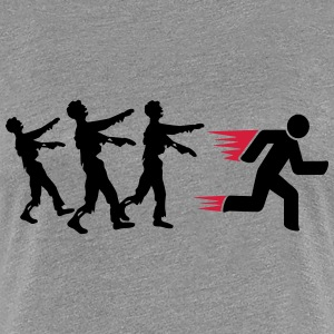 Run From Zombies T-shirts - Premium-T-shirt dam
