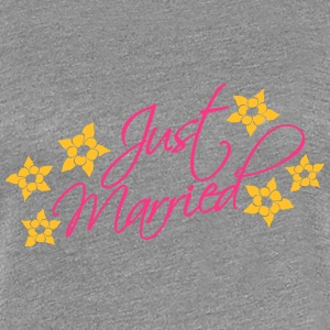Just Married T-shirts - Dame premium T-shirt