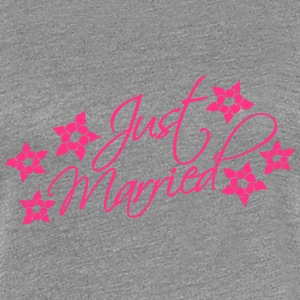 Just Married T-Shirts - Frauen Premium T-Shirt