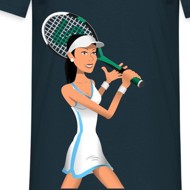 Stick Tennis - Tennis Girl 1