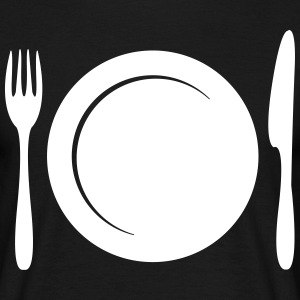 Plate with cutlery  T-Shirts - Men's T-Shirt