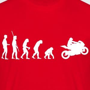 Motorcycle reverse evolution  T-Shirts - Men's T-Shirt