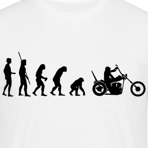 Chopper omvänd evolution  T-shirts - T-shirt herr