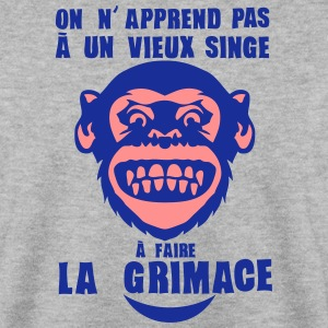 apprend pas vieux singe faire grimace Sweat-shirts - Sweat-shirt Homme