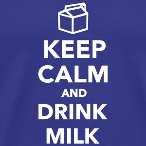 Keep calm and drink Milk T-Shirts - Männer Premium T-Shirt